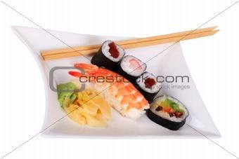 Classic japanese sushi