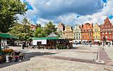 Flowers in Salt Square - Wroclaw,  Poland