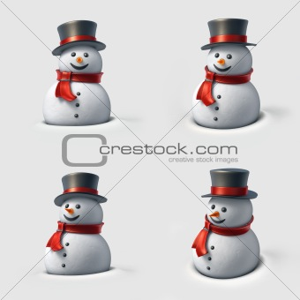 Cute snowman.
