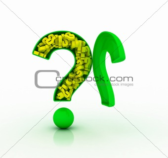 3D question mark