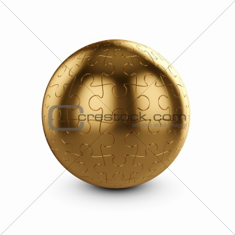 golden puzzle sphere