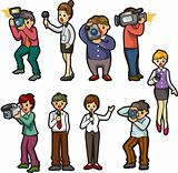 set of reporter people