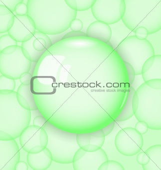 transparency ball with soap bubble