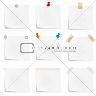 Paper notes and stickers
