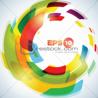Abstract concentric circle background design