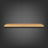Shelf On Abstract Metal Background