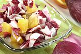 Chicory salad with orange slices