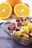 Chicory salad with fresh orange slices