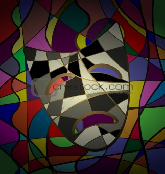 abstract background theatrical mask tragedy