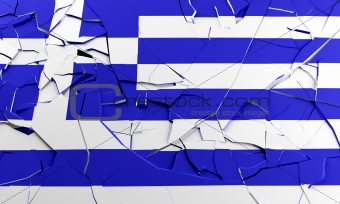 Broken Greek flag