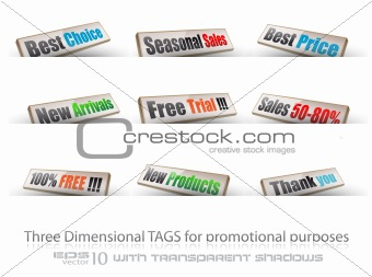 threedimentional panels for products promotion