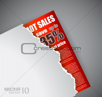 Advertisement Sheet sales background