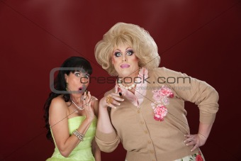 Shocked Woman With Drag Queen