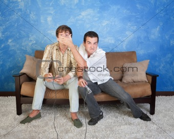Envious Gamer With Friend