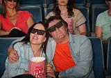 Couple Watching 3D Movie