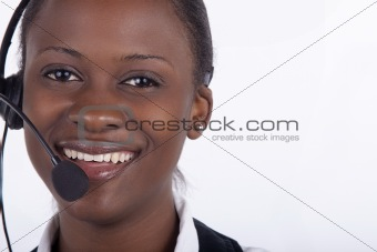 Gorgeous South African Call Centre woman