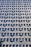 Windows of apartment buildings