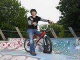 Teenage boy with bmx