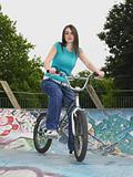 Teenage girl with bmx