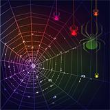Dark spider web background