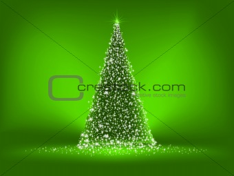 Abstract green christmas tree on green. EPS 8 vector file included Abstract green christmas tree on red background. EPS 8