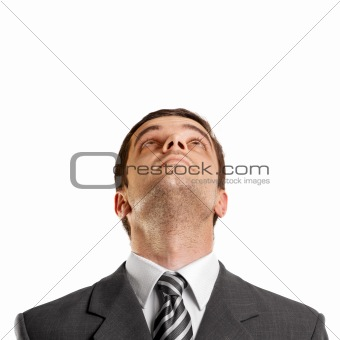 Businessman Looking Upwards