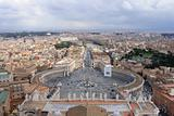 San Pietro square from the top.