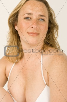 Woman in her bra