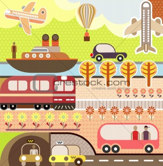 Landscape - Tourism and Travel Illustration