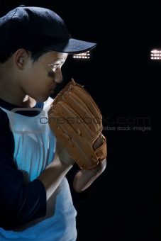 Boy baseball pitcher