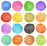 Abstract colorful watercolor circle