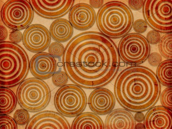 old paper background with circles
