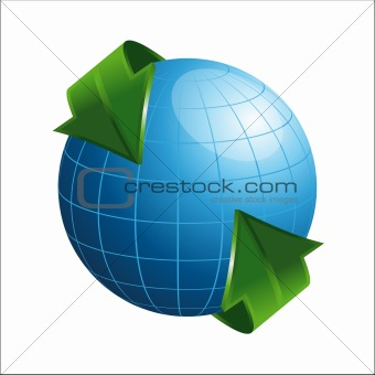 3D Globe with Arrows