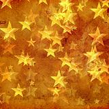 golden stars over old paper