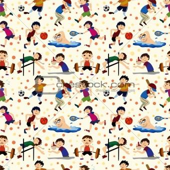 sport player seamless pattern