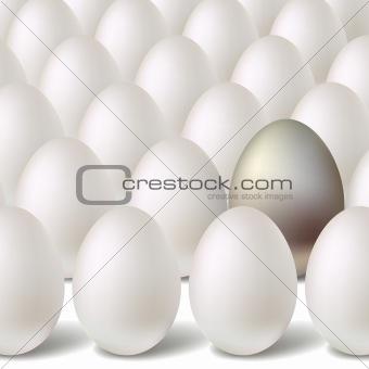Silver vector egg concept