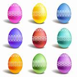 Set of vector color easter eggs