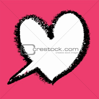 Heart-shaped speech bubble. Vector illustration.