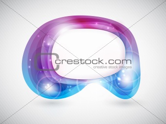Vector abstract shape or speech bubble