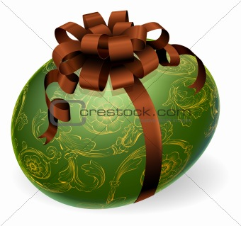 Chic Easter Egg With golden patterns