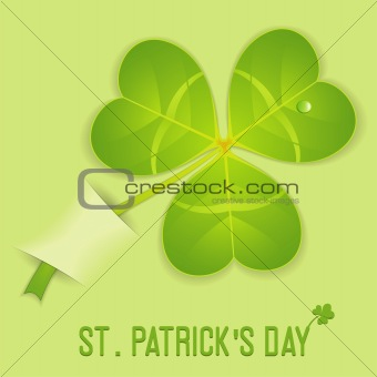 Leaf Clover on St. Patrick's Day