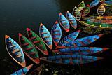 Colorful boat docked in flowerlike formation
