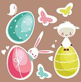 Cute Easter design elements