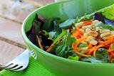 salad of fresh carrots with pine nuts