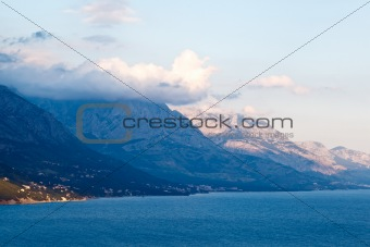 Adriatic Sea and Mountains near Makarska, Croatia