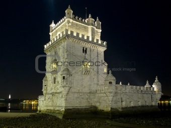 Tower of Belem At Night