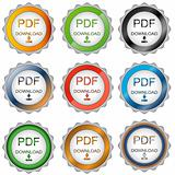 Nine pdf download icons