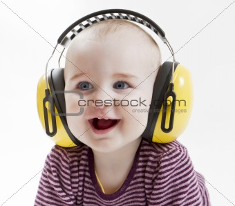 young child with ear protector