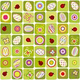 Abstract Easter holiday seamless pattern background