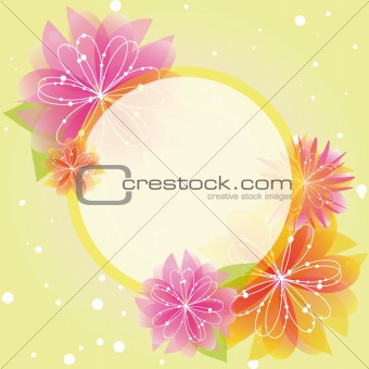 Abstract springtime flower greeting card